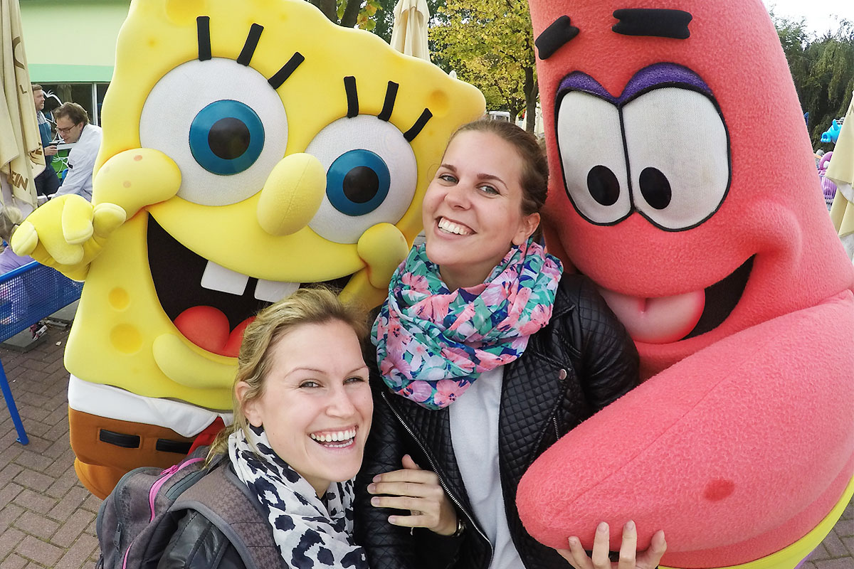 Spongebob & Patrick im Movie Park Germany