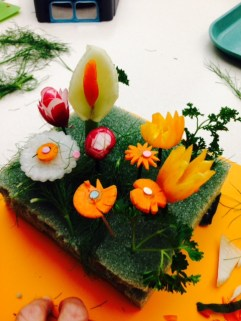 Flowers made with VEGETABLES
