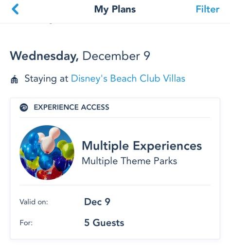 Multi Experience Passes
