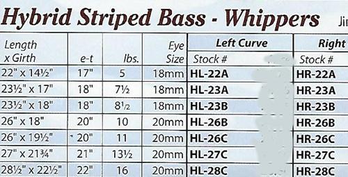 HYBRID SIZE CHART