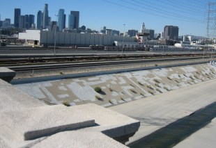 The mighty mighty LA river (that trickle on the right)