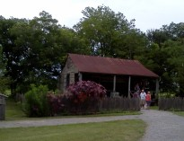 relocated slave quarters on the Laura Plantation