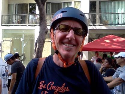 Tom Haskins on Spring Street.