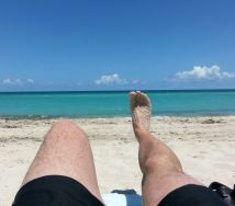 Blogger's feet and the Atlantic at Miami Beach