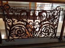 Brass (I assume) ironwork on railings