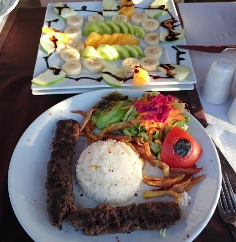 681 Lunch - Kebab and Fruit