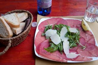1475 Lunch - First Course - Carpaccio di Bresaola con Rucola e Grana