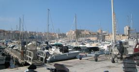 1602 Marseille Port With Castle