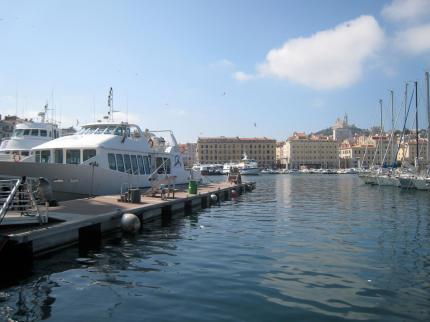 1605 Marseille Port With Basilica