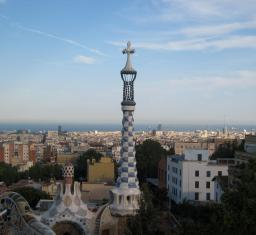 1751 Barcelona from Park Guel