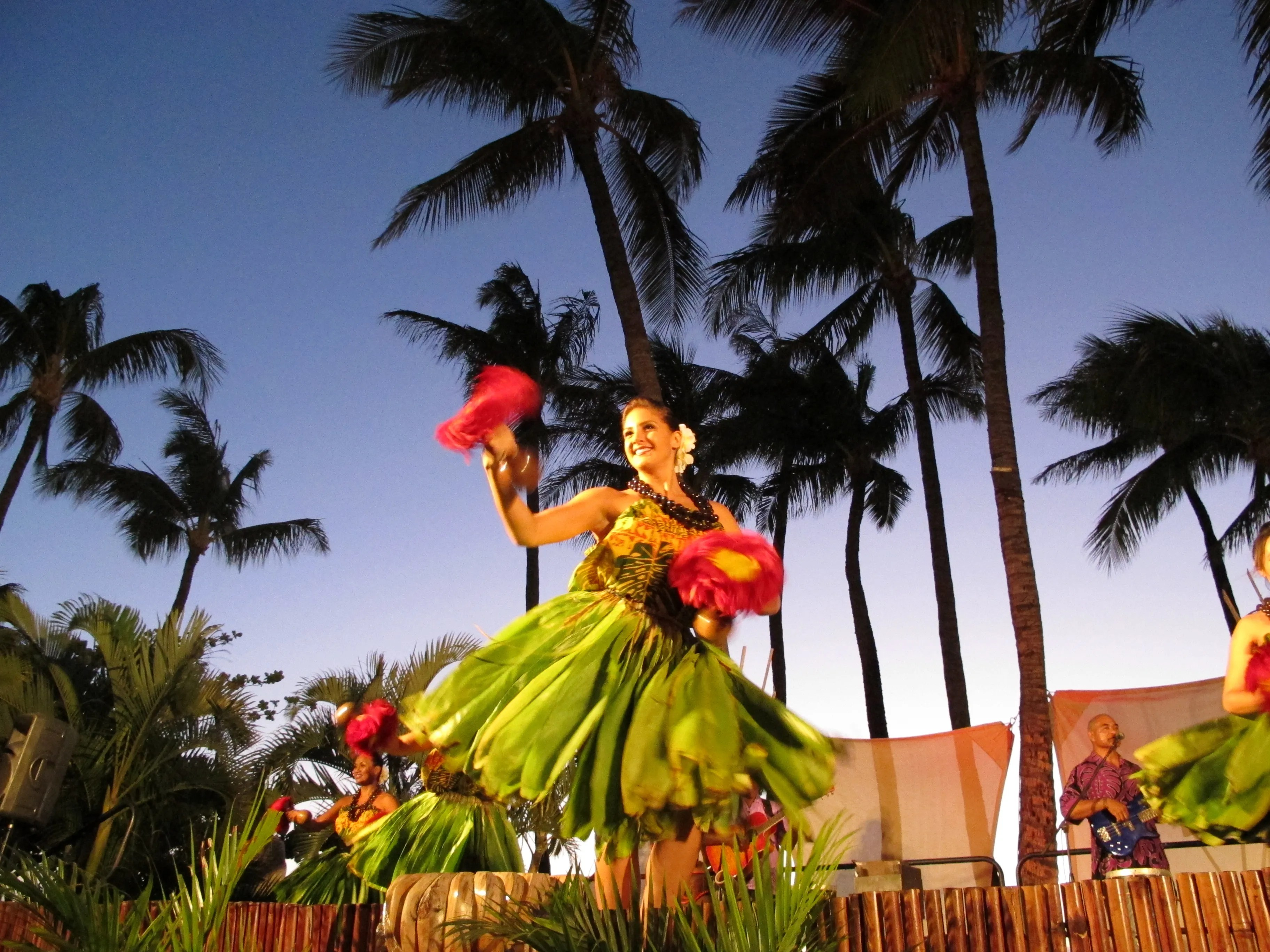 A Hawaiian luau at the Westin Maui on Kaanapali Beach is a great way to spend the evening. It's an outstanding resort with family-friendly pools and waterslides.