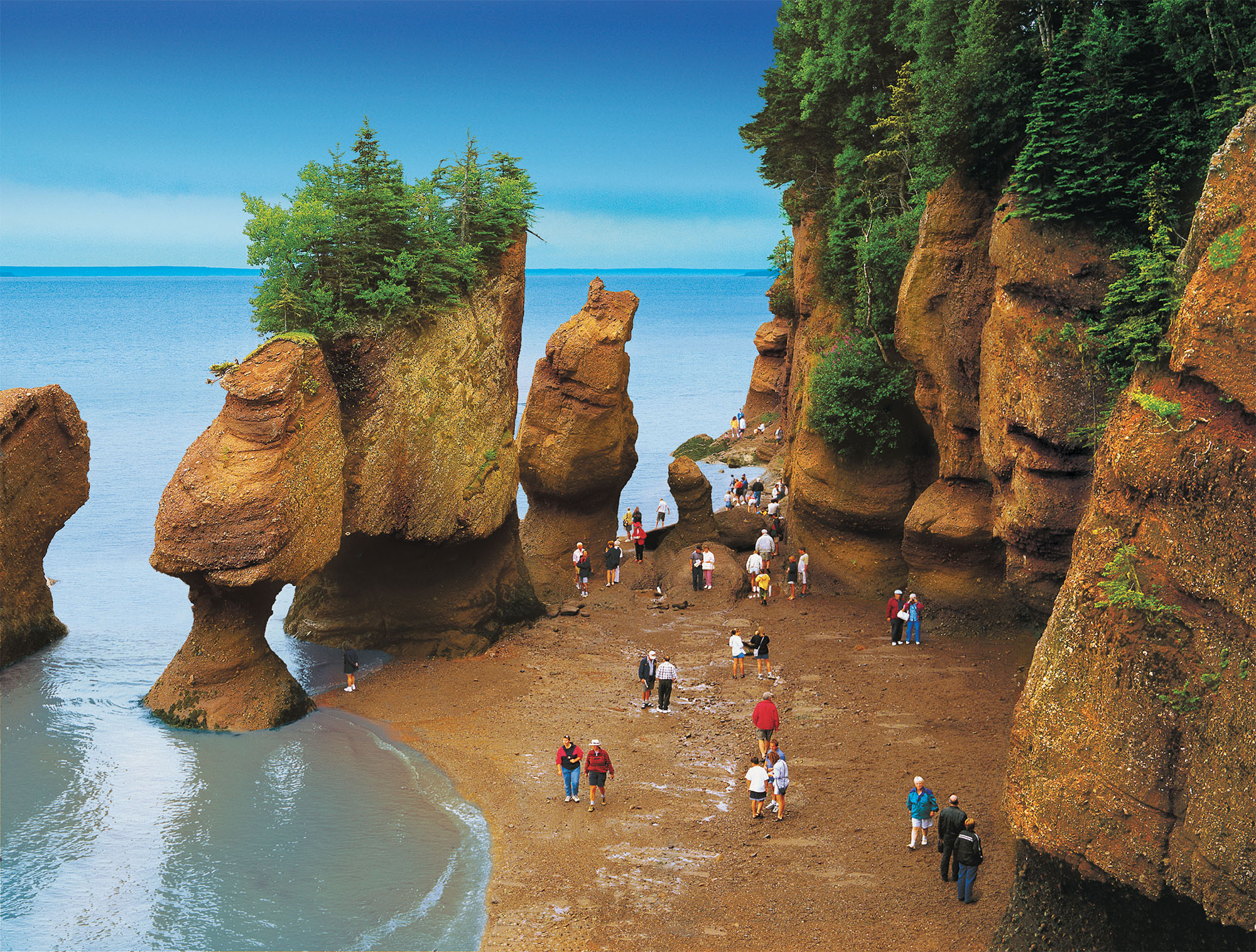 Checking the tides on the Bay of Fundy is an amazing experience in New Brunswick. CANADIAN TOURISM COMMISSION PHOTO