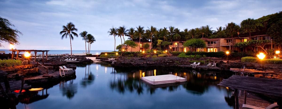 The Four Seasons Resort Hualalai at historic Ka'upulehu on the Kona Coast of Hawaii.
