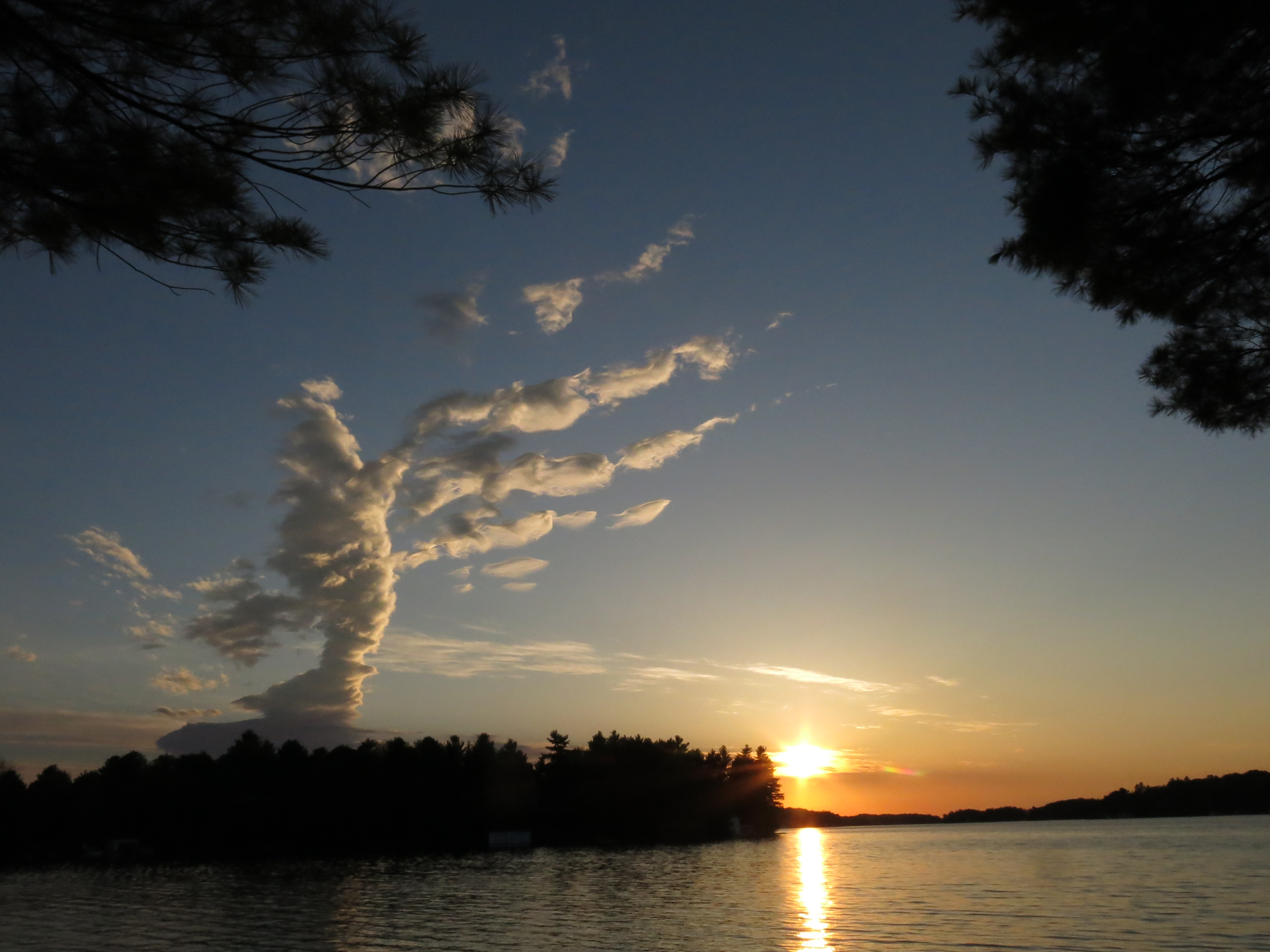 Sunsets are glorious in Muskoka. This unusual cloud formation shot was taken at the lovely <a href=