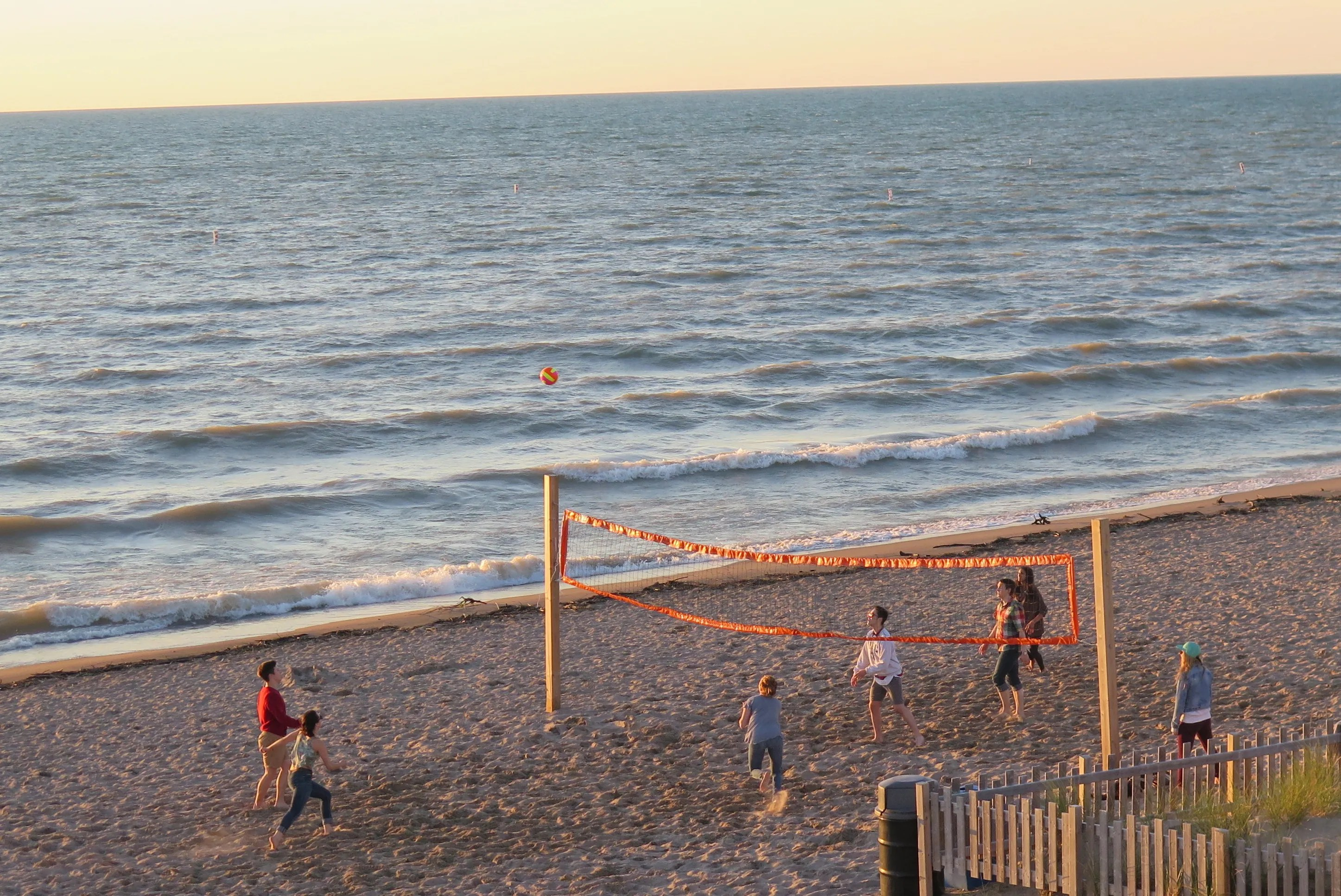A game of beach volleyball on the sand in Grand Bend. JIM BYERS PHOTO