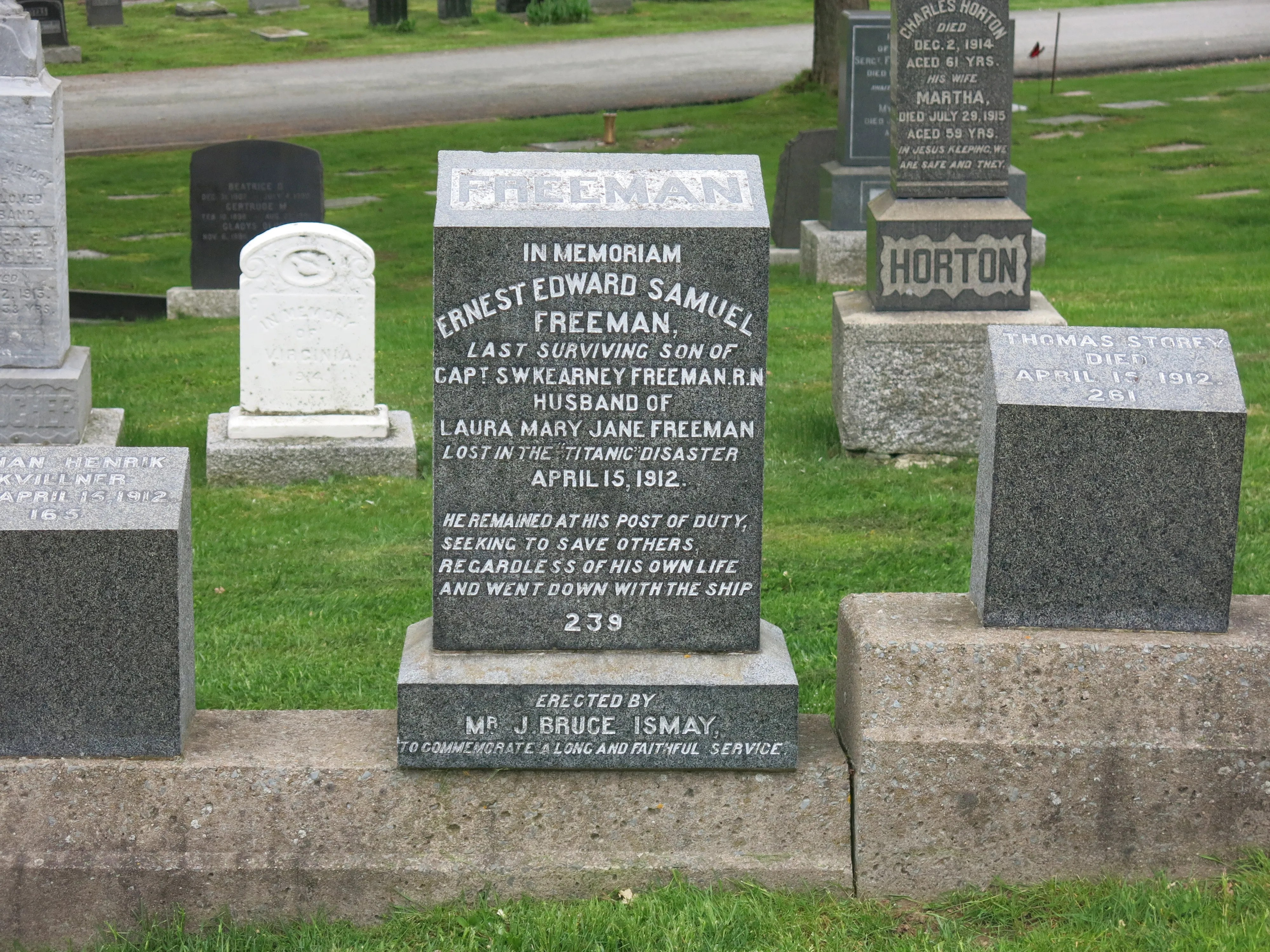 Fairview Cemetery in Halifax contains the remains of many victims of the Titanic disaster. JIM BYERS PHOTO