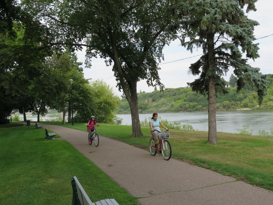 Grab a bike and take a spin along the river for a great afternoon in Saskatoon. JIM BYERS PHOTO
