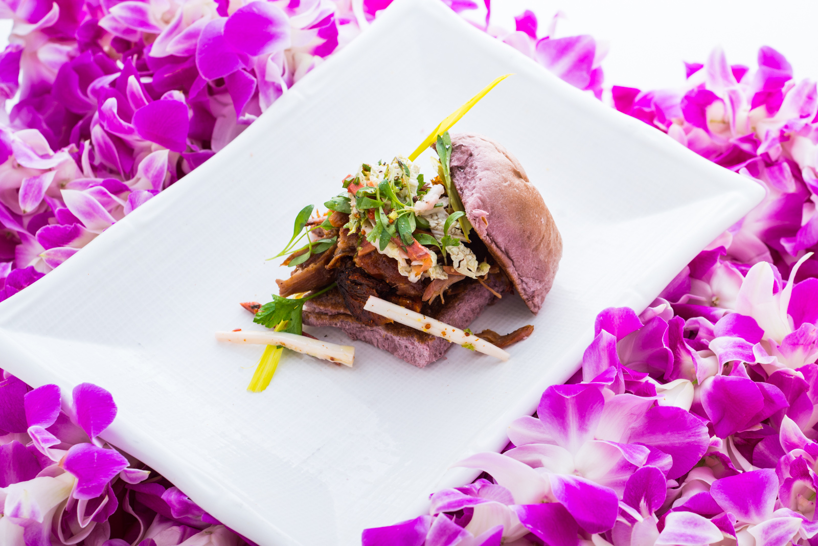 Chicago chef Art Smith whipped up some great pulled pork with hearts of palm at the Hawaii Food and Wine Festival.