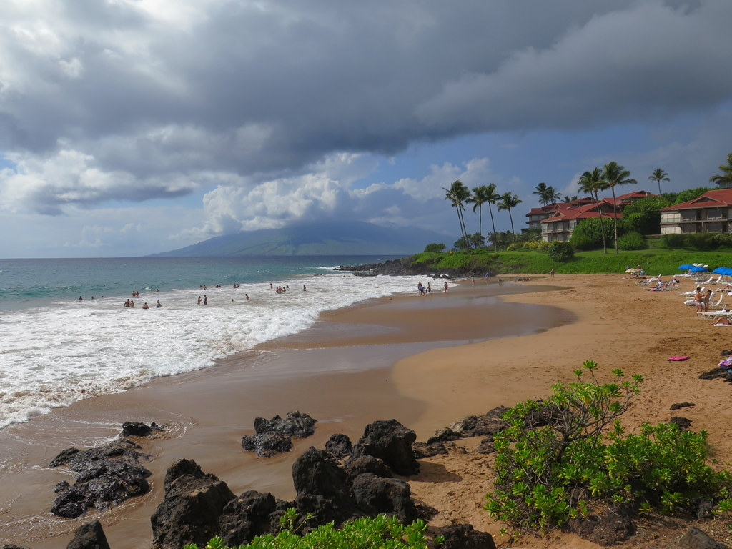The beach at the Fairmont Kea Lani is one of the best on Maui, with awesome views and sunsets.
