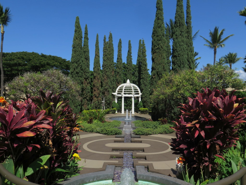 The grounds at the Fairmont Kea Lani are super romantic. It's a popular spot for weddings.