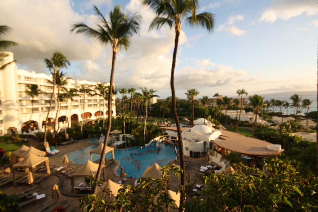 There are several pools to choose from at the Fairmont Kea Lani, including an adults-only area and a cool waterslide for kids, and kids at heart like me.