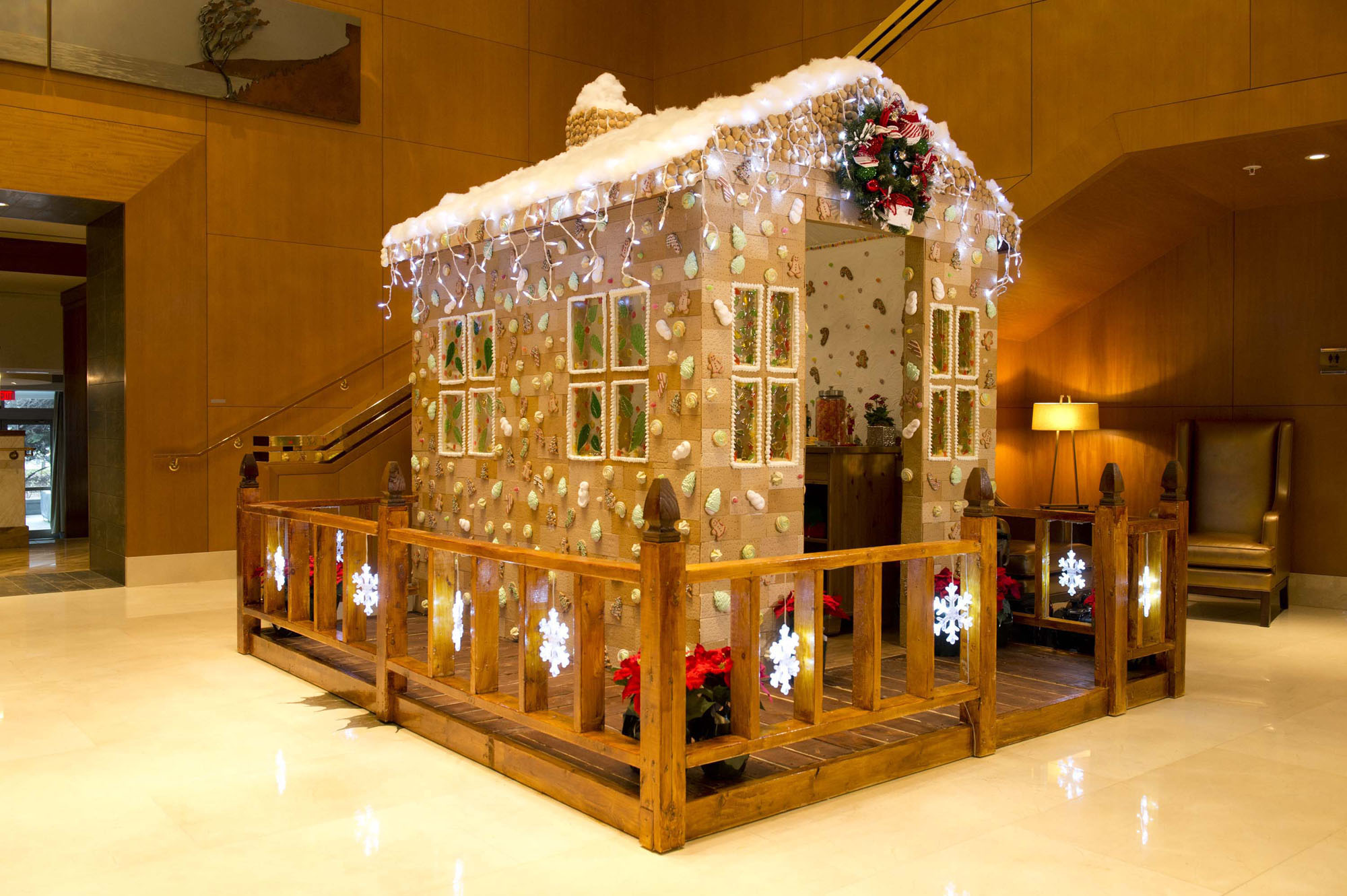 Toronto's largest gingerbread house goes on display at The Ritz-Carlton, Toronto, Friday, December 4, 2015. The life-size confection took over 500 hours to create and is the work of the hotel's pastry team. The Canadian Press Images PHOTO/The Ritz-Carlton, Toronto