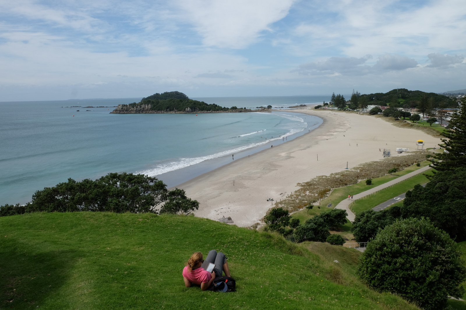 The beach at Mount Moanganui is a dreamy spot on the Bay of Plenty.