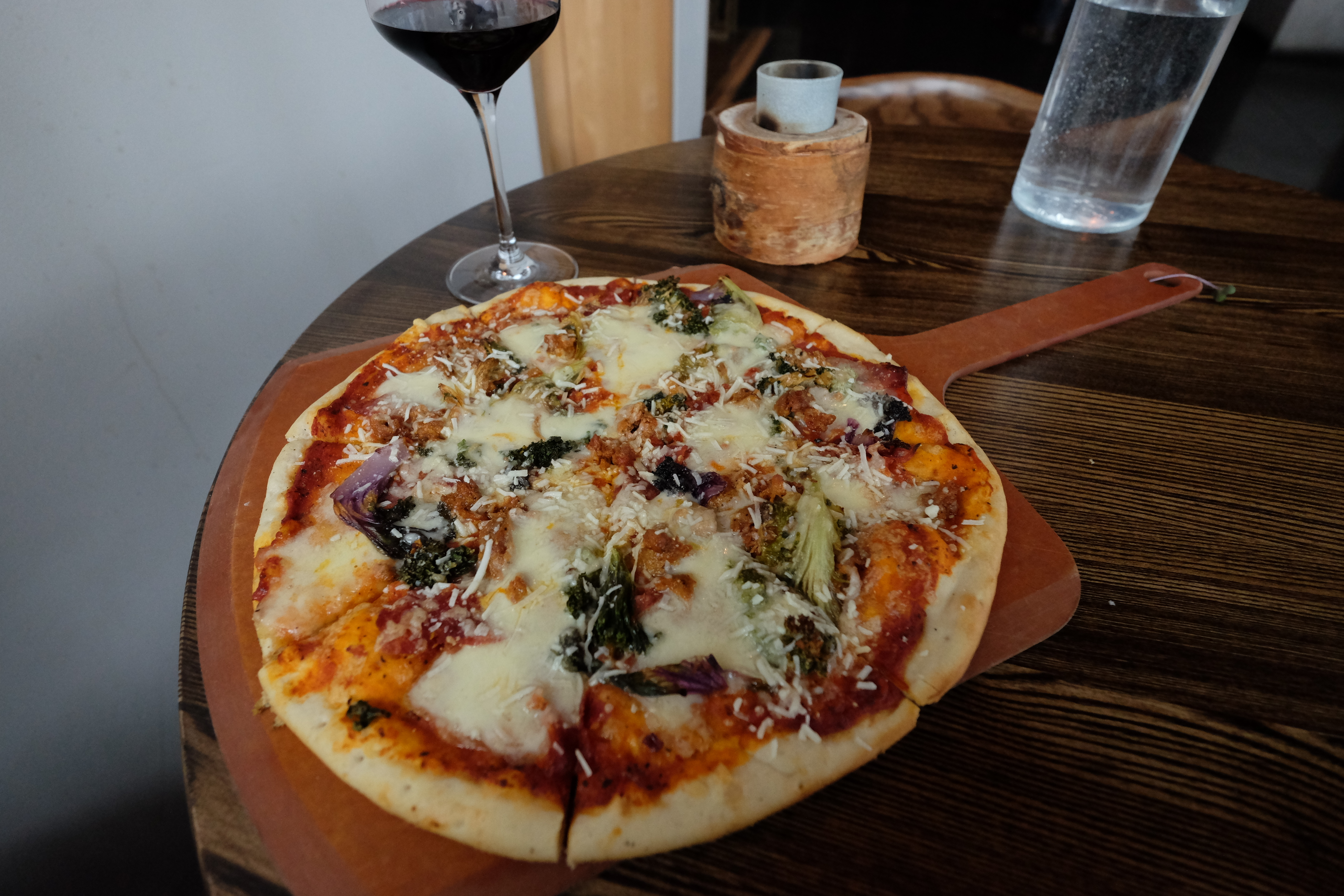 They make an excellent pizza with roasted veggies at Bight, located on the renovated Thunder Bay waterfront. JIM BYERS PHOTO