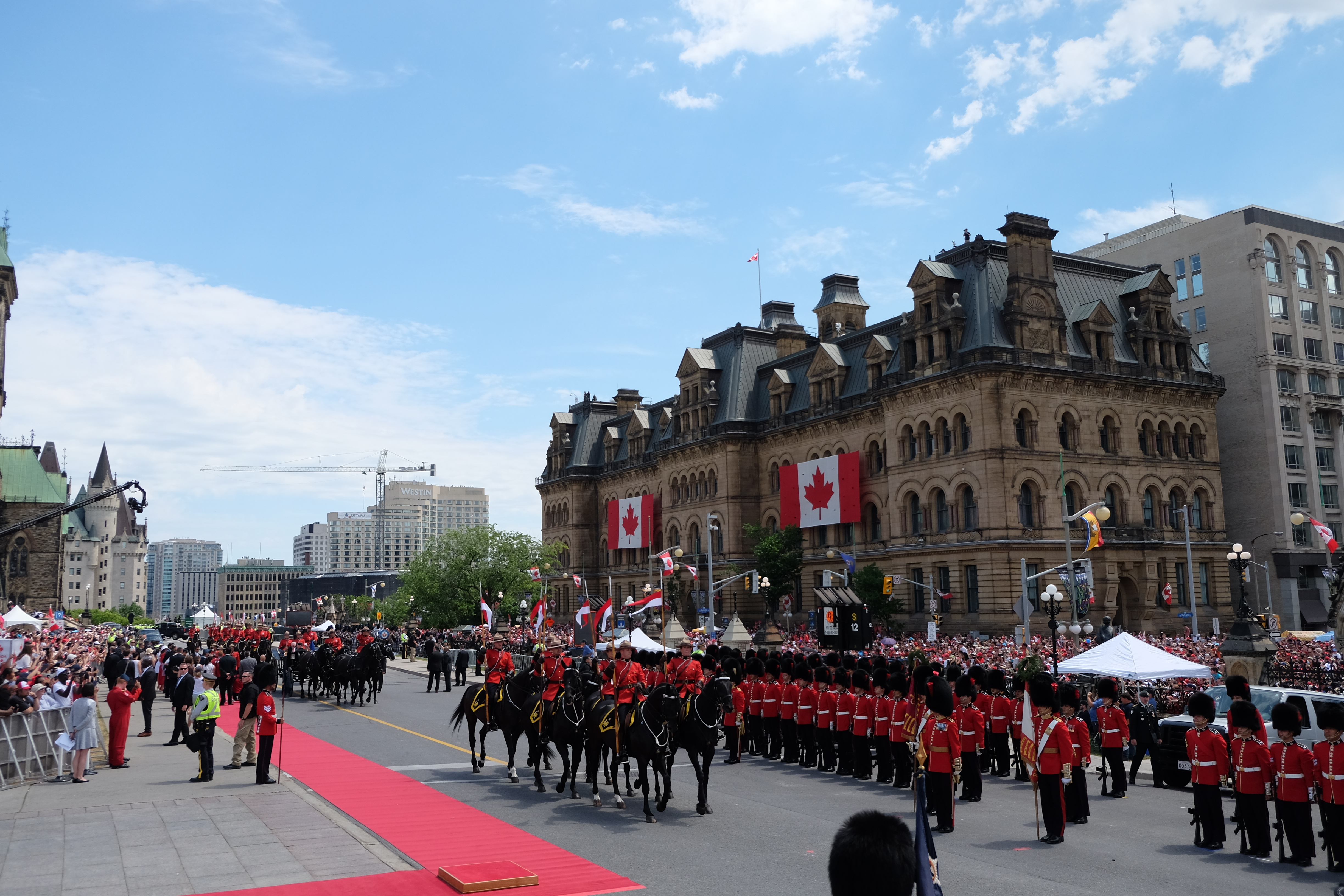 Marching bands and Mounties on horseback; how great is that?