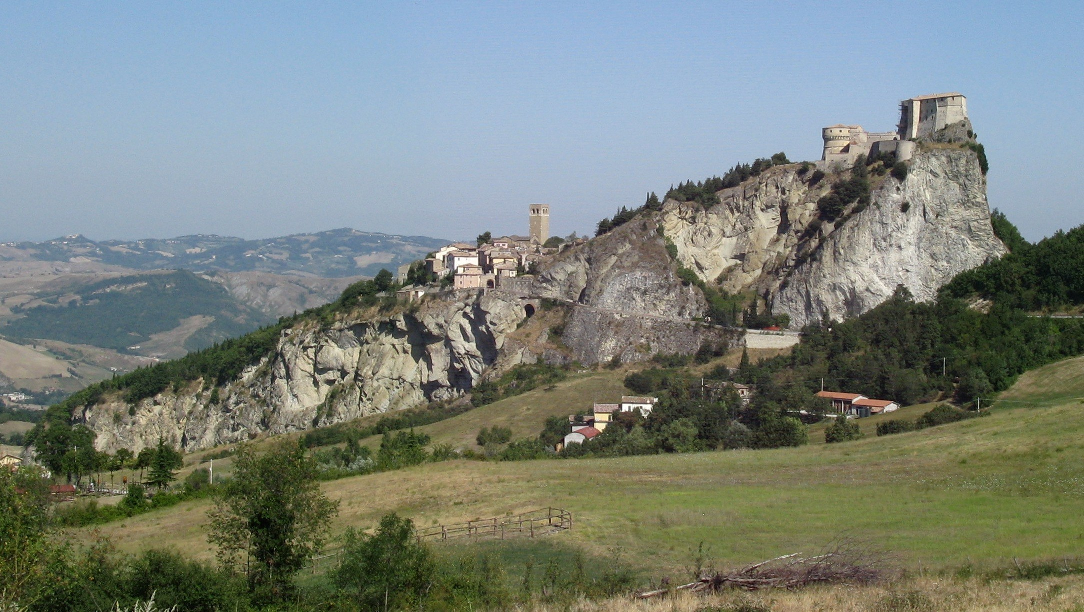 San Leo is another stately hilltop town in Emilia-Romagna. PHOTO COURTESY TOURISM EMILIA-ROMAGNA