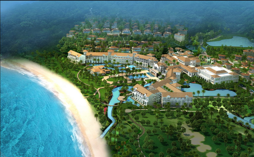 The new Ritz-Carlton on Hainan Island in China will feature two beaches and a nine-hole golf course designed by Jack Nicklaus.