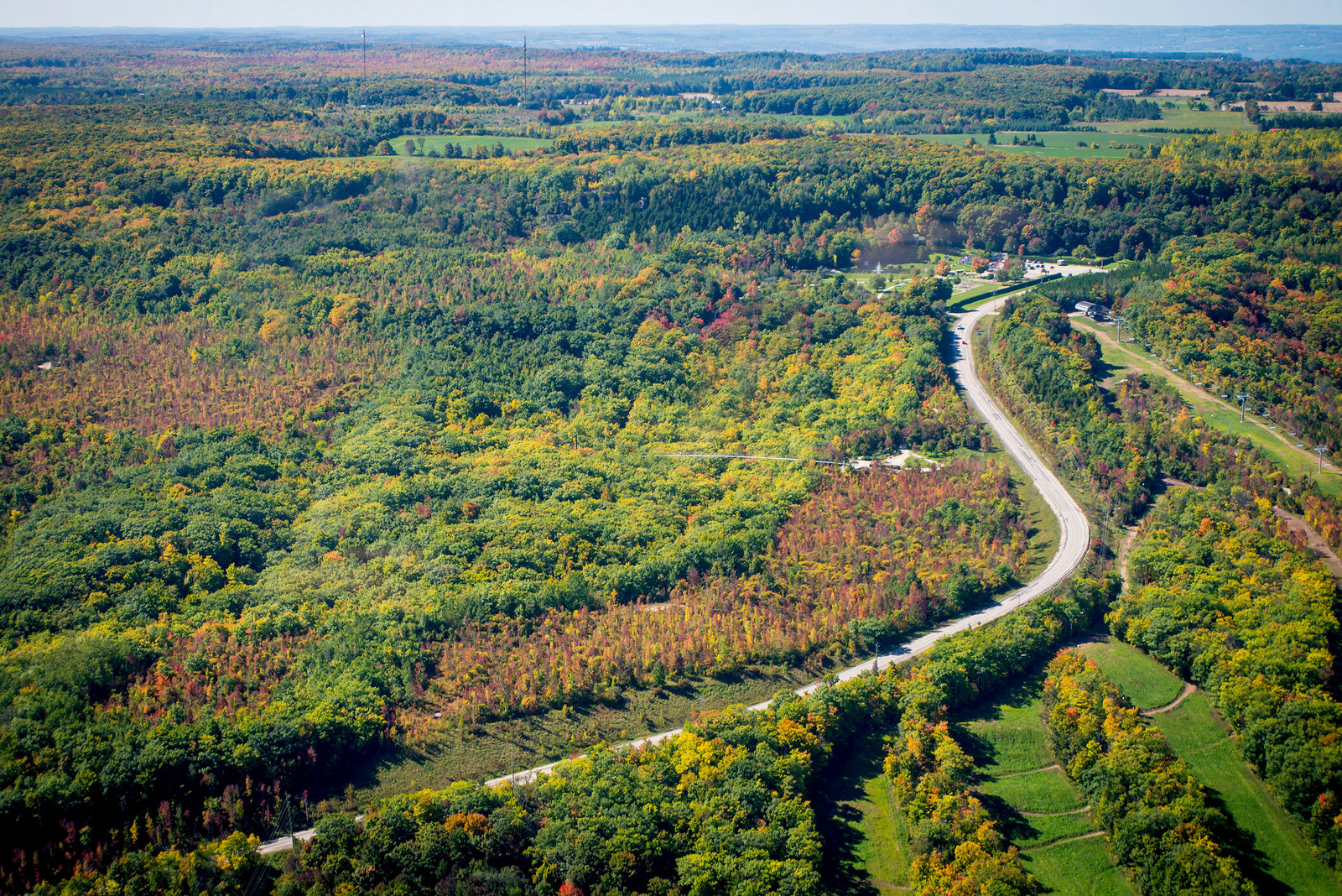 An aerial shot of the Beaver Valley in autumn. PHOTO COURTESY GREY TOURISM