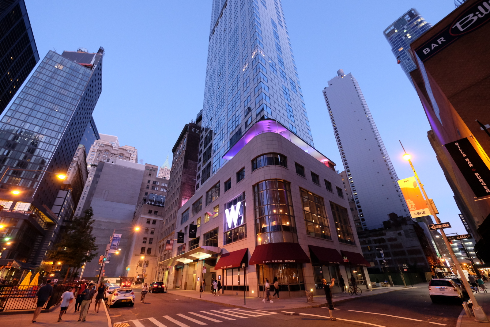 The W Hotel Downtown has a great location in lower Manhattan. JIM BYERS PHOTO