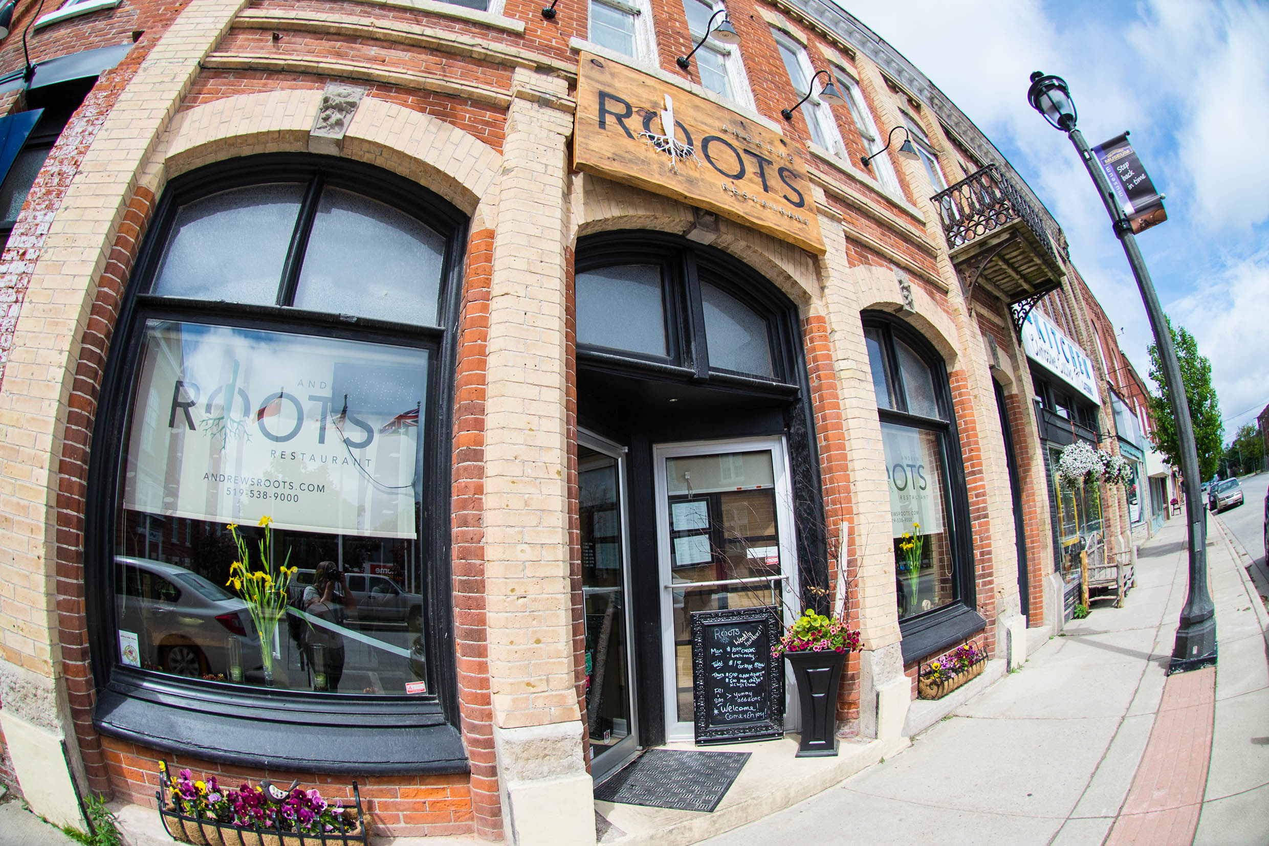 Andrew's Roots is a fantastic (and handsome) restaurant in lovely Meaford, Ontario.  PHOTO COURTESY VISITGREY.CA