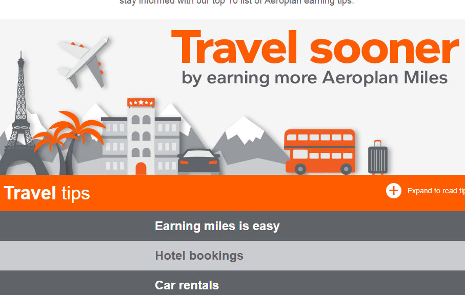 Aeroplan is great at offering tips about maximizing your points.