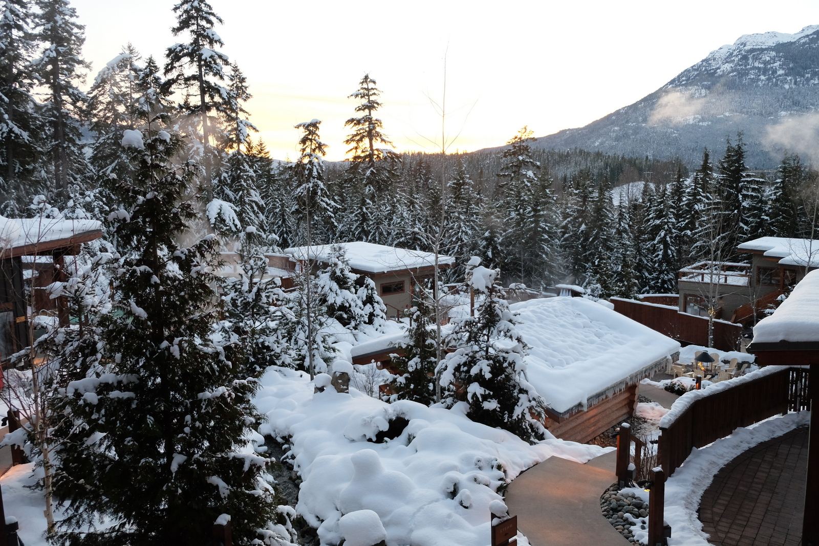 The Scandinave Spa in Whistler is a gorgeous winter spot. - JIM BYERS PHOTO
