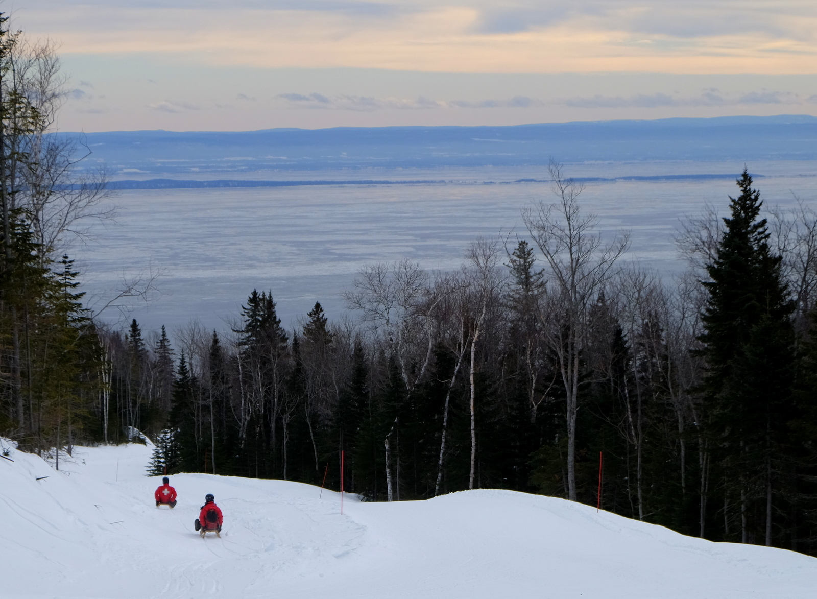 Try a luge/sled ride at Le Massif, Quebec for a great way to enjoy winter. - JIM BYERS PHOTO