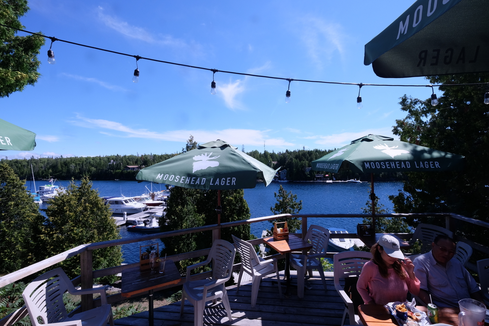 There's  a fine patio at the Big Tub Harbour Resort in Tobermory, Ontario. - JIM BYERS PHOTO