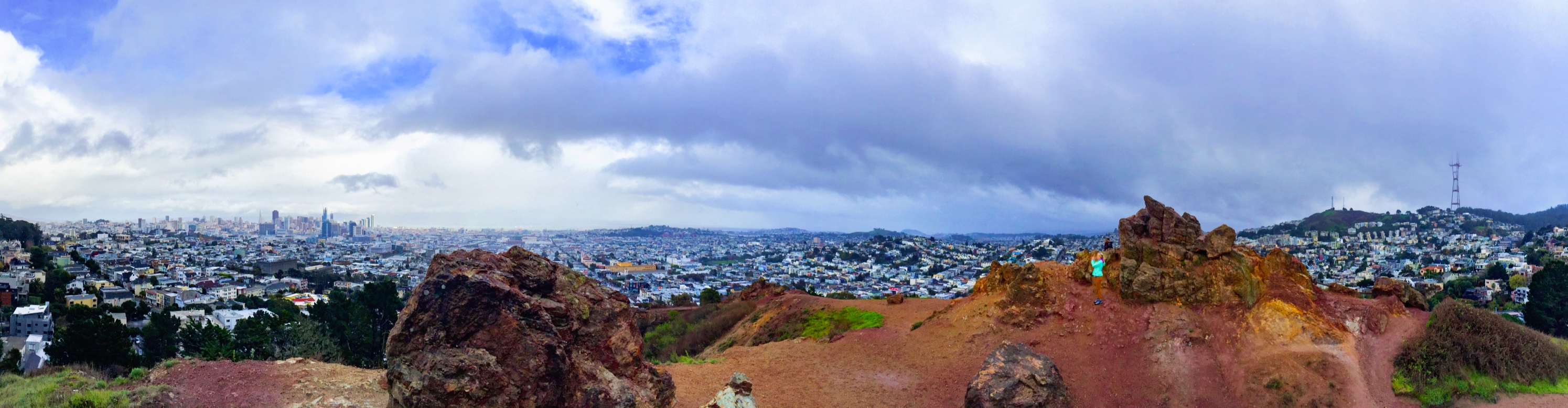 Corona Heights features unexpected views of San Francisco. - JIM BYERS PHOTO
