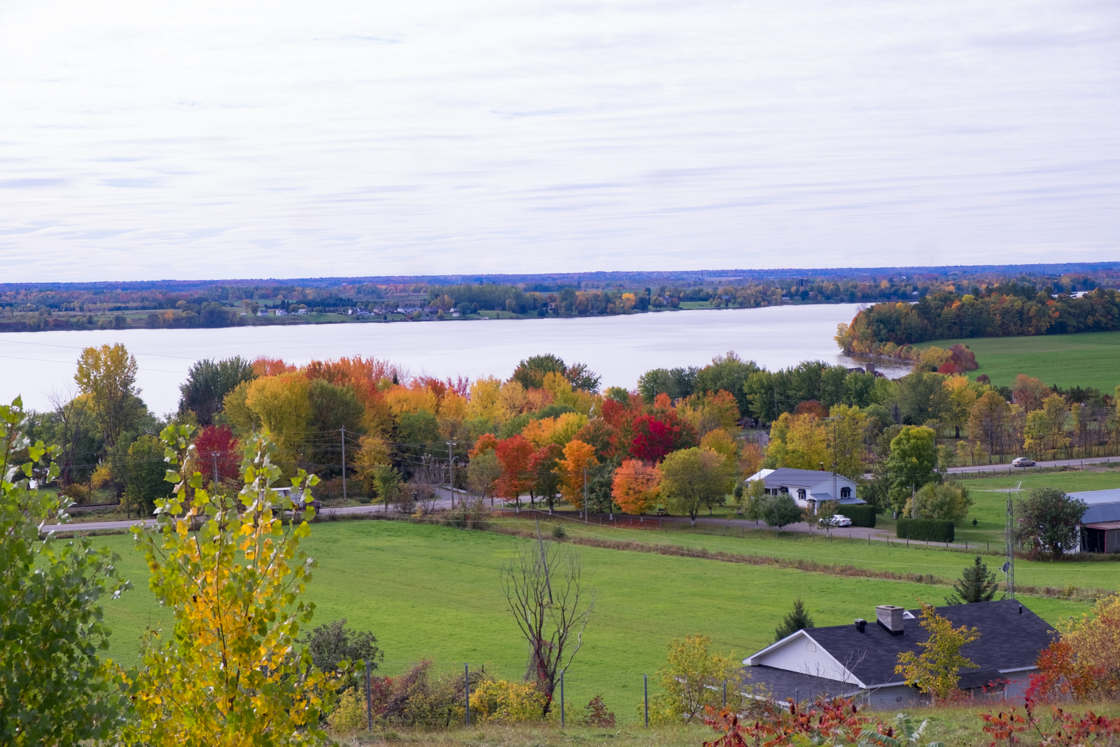 Take a drive along the Quebec side of the Ottawa River for classic fall foliage shots. - JIM BYERS PHOTO