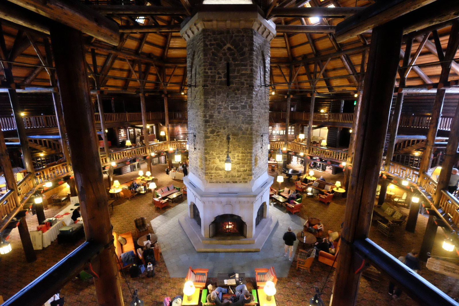 I love the lobby at the Fairmont Chateau Montebello in Quebec. - JIM BYERS PHOTO