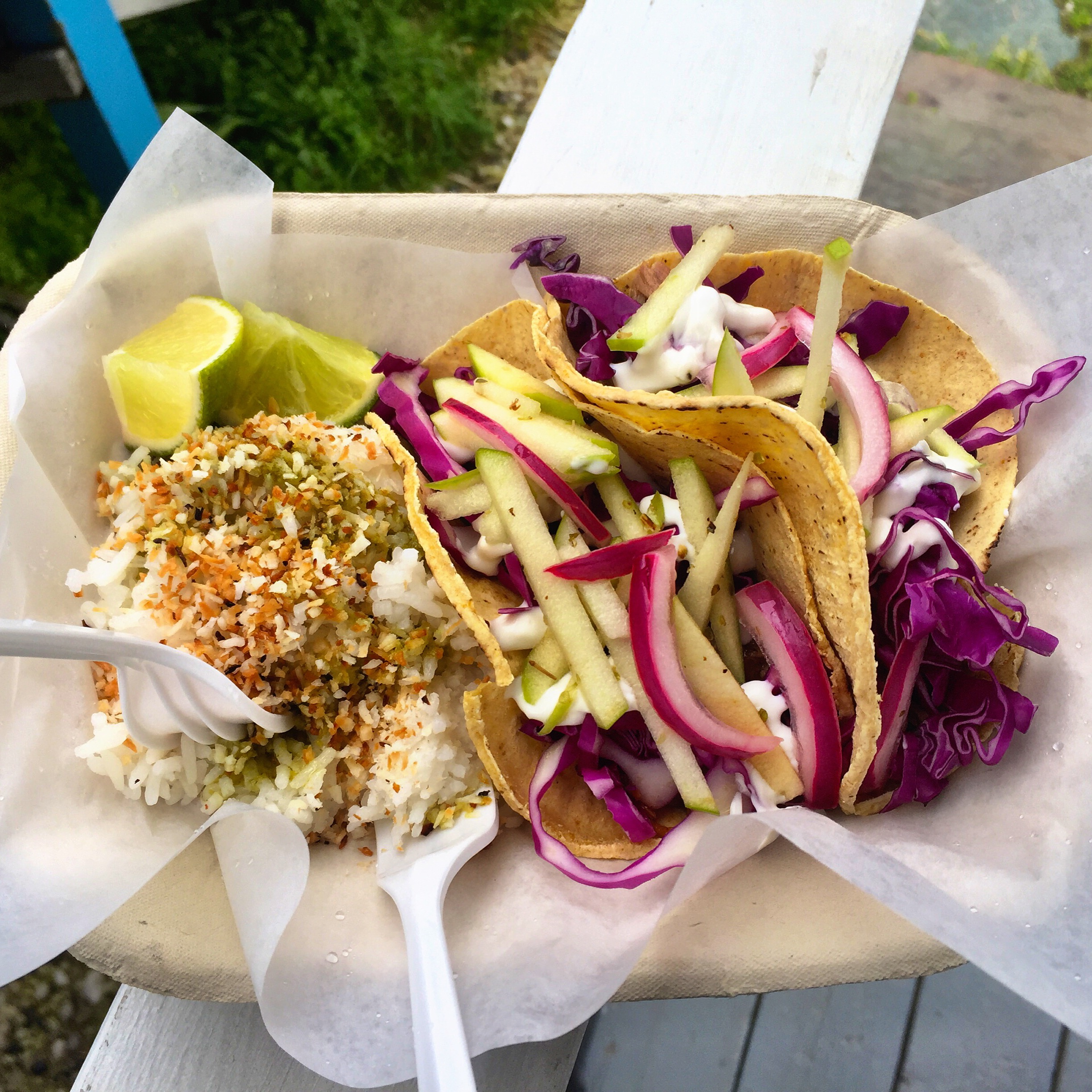 Aloha Taco is a great food truck/dining spot in Dawson City, Yukon. - JIM BYERS PHOTO