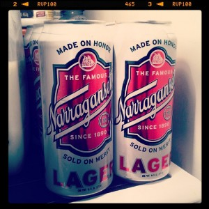 My tour of inexpensive American regional beers continues with Narragansett,  thanks to Common Market!