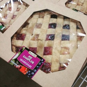 A pie with slices of apple, peach, cherry and berry? What a time to be alive!