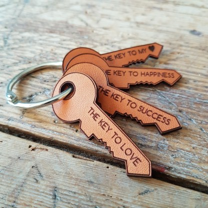 Magic leather keys laserengraved