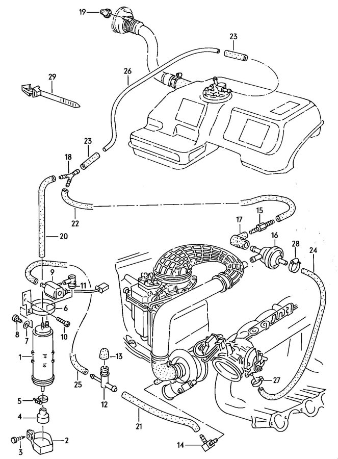 Oil pump intake seal location as well download 1985 audi 4000s evaporation control canister pdf moreover