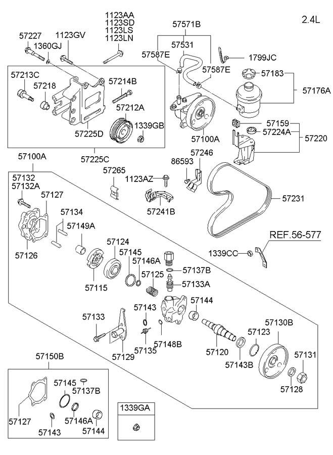 01 Hyundai Santa Fe Engine Diagramsimiliar 2002 Power Steering Diagram Keywords Fits