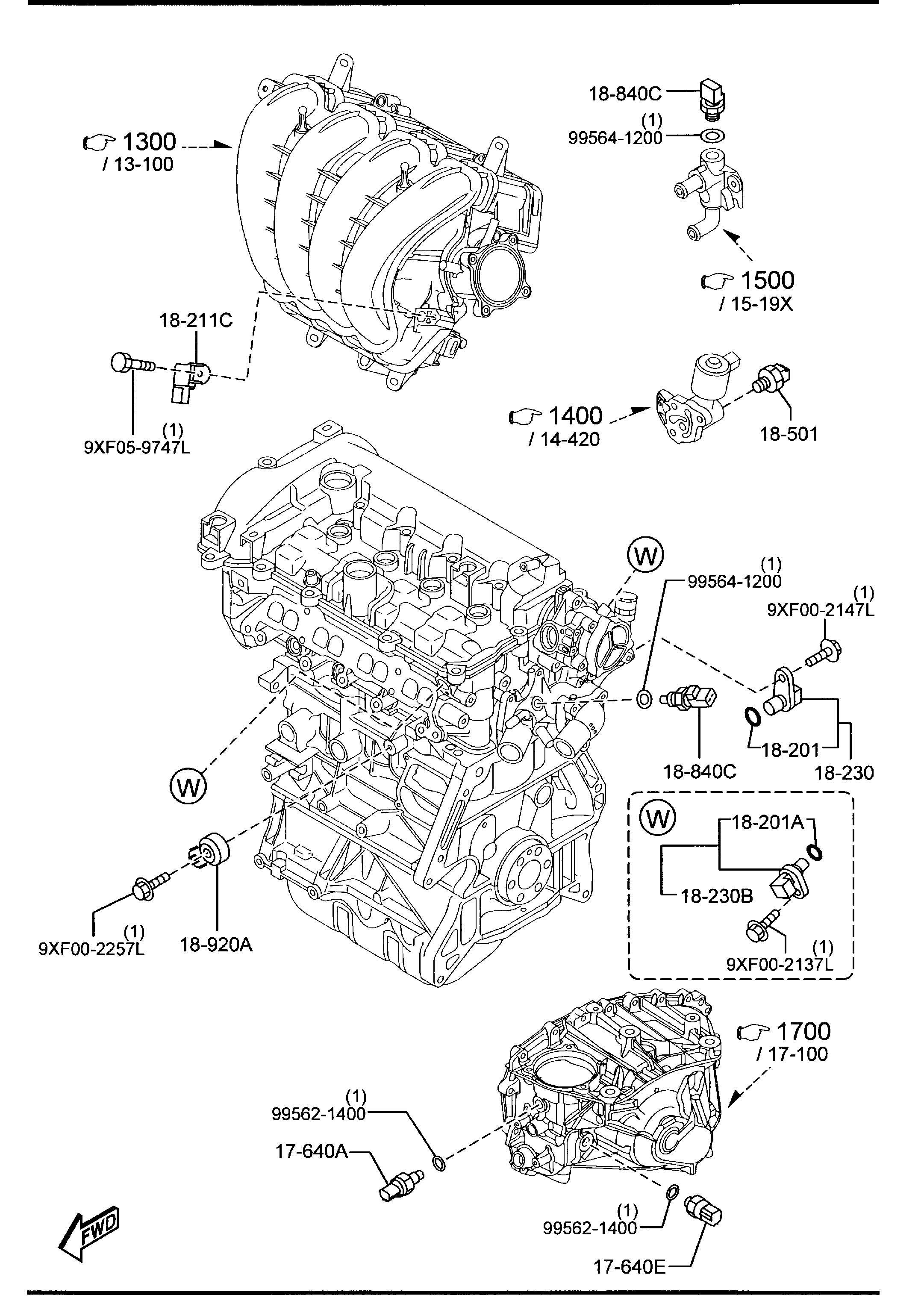 Mazda Engine Switches Amp Relays