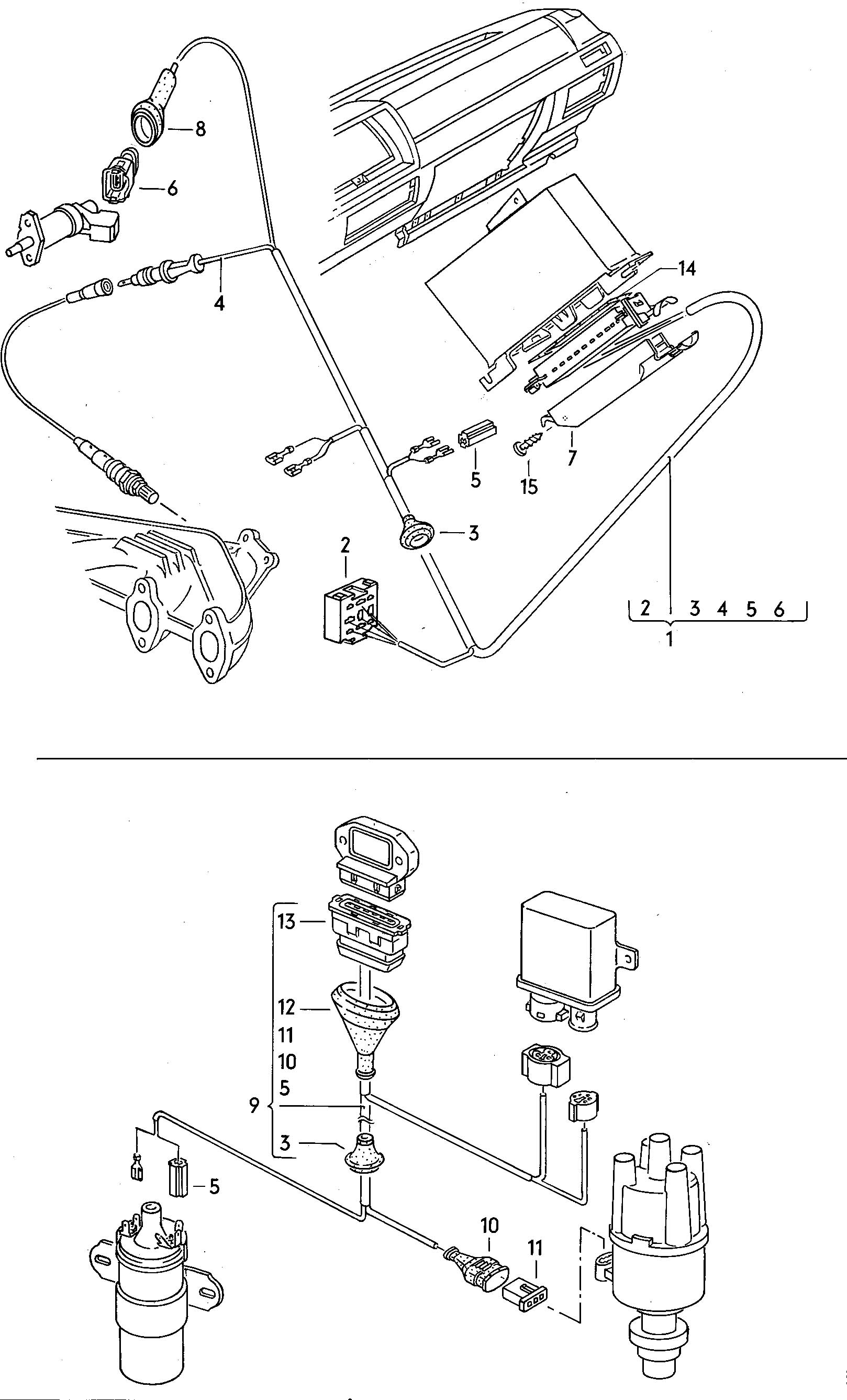 Volkswagen Vw Dasher Harness For Oxygen Sensor And