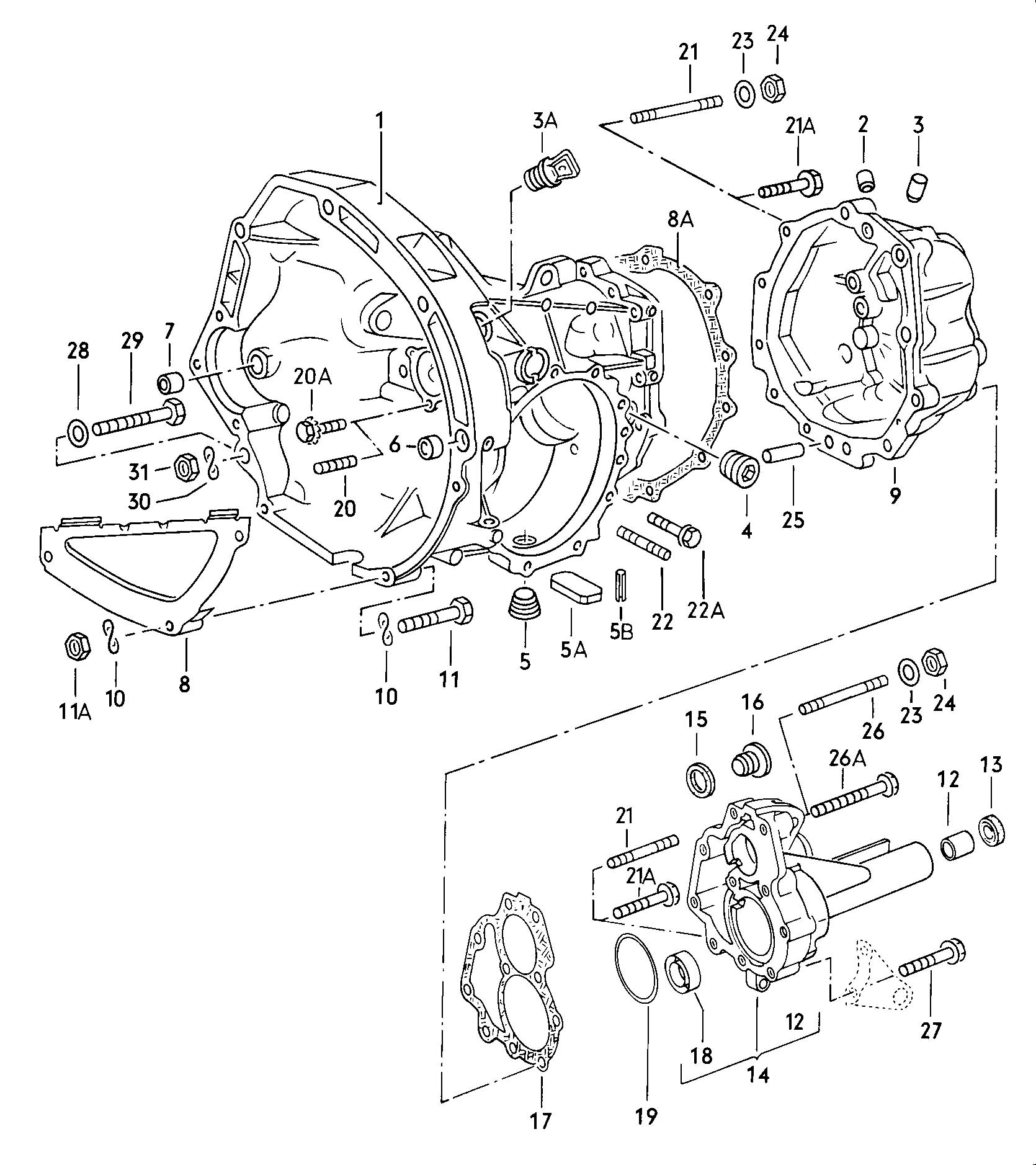3 Speed Automatic Transmission Transmission Case 4 Speed